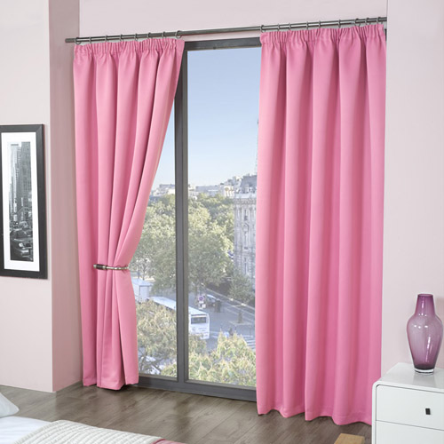 Soft Pink Blackout Curtains Pure White Blackout Curta