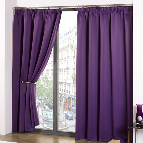 Thermal Supersoft Blackout Curtains Purple | Tony's Textiles ...
