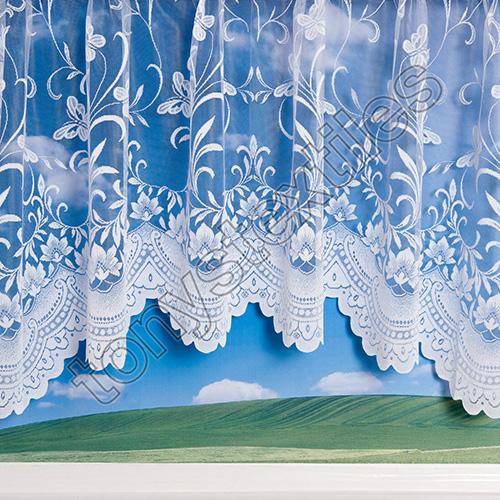 Butterfly Jardinierre Net Curtain White Tony S