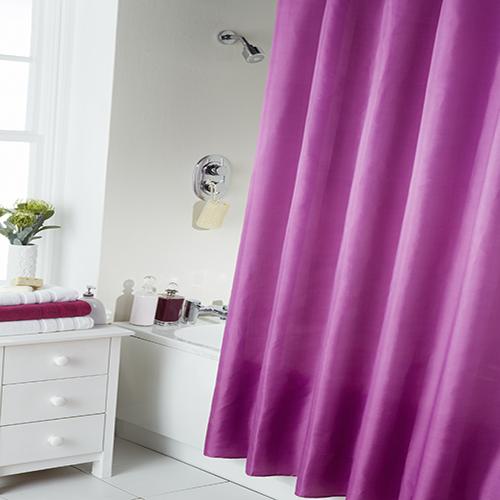 Fuchsia pink shower curtain hooks tonys textiles for Plain pink shower curtain