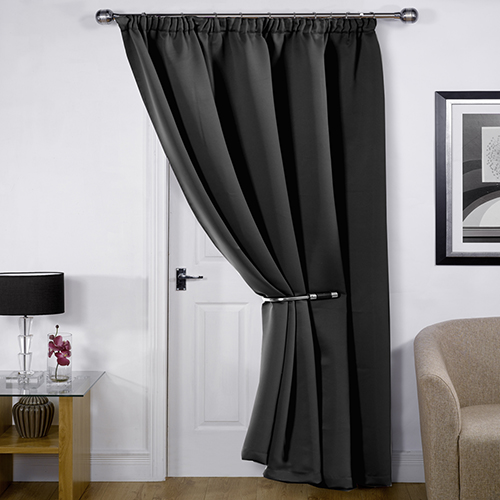 Blackout Thermal Black Door Curtain Tony S Textiles