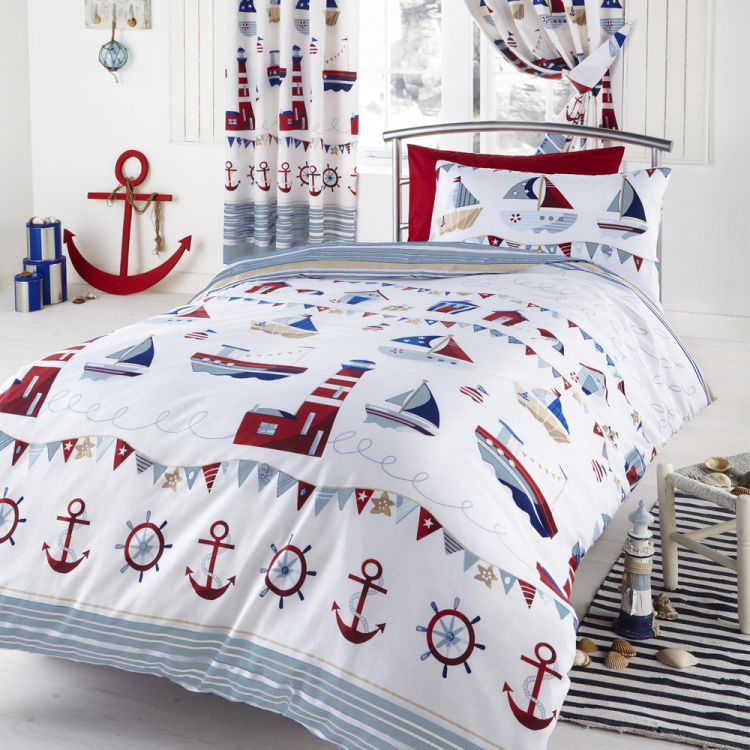 Kids Nautical Childrens Quilt Cover Tony S