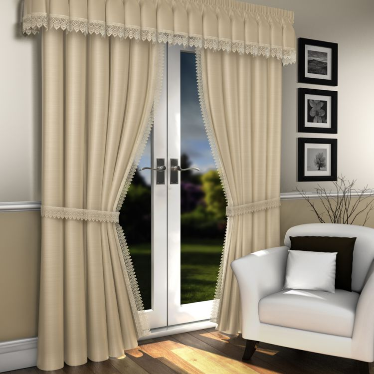 Lined Lace Embroidered Voile Curtains Tony S Textiles
