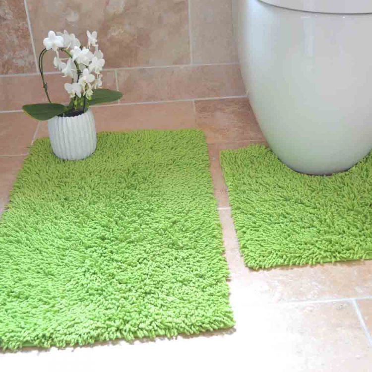 100 Cotton Bath Set Green Chenille Tonys Textiles