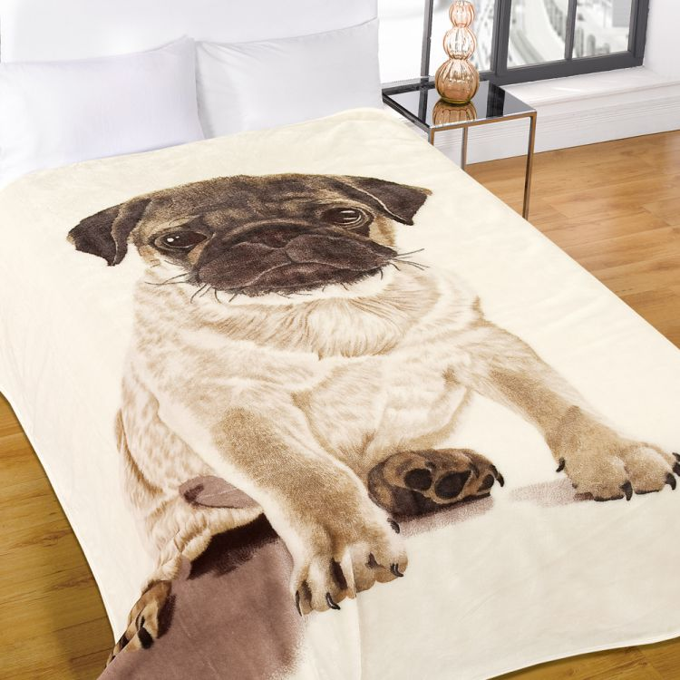 Pet Seat Covers >> Pug | Mink | Fleece | Blanket | Throw | Tonys Textiles