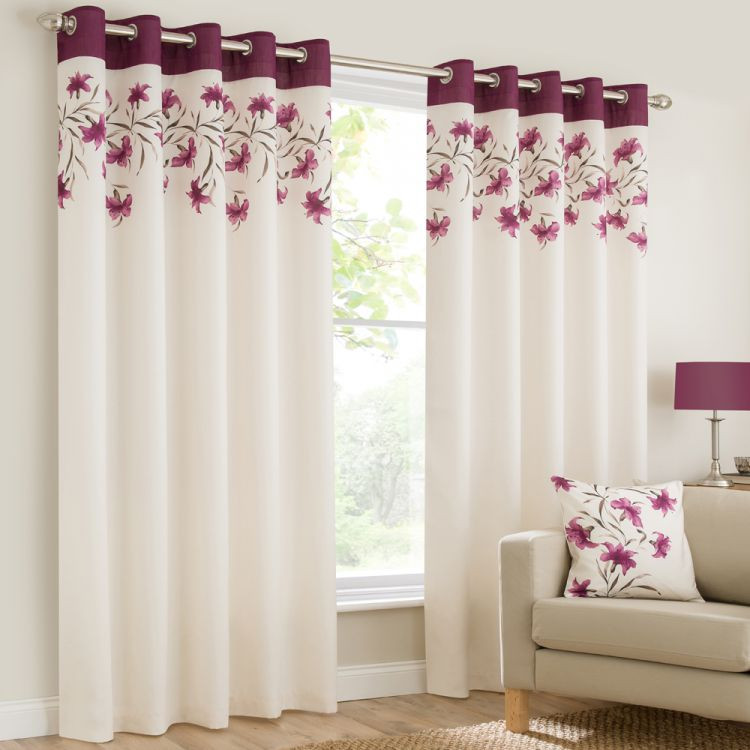 Ring Top Eyelet Fully Lined Curtains Lily