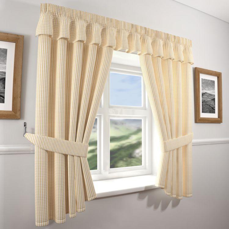 Gingham Check Beige Curtains Tony S Textiles Tonys