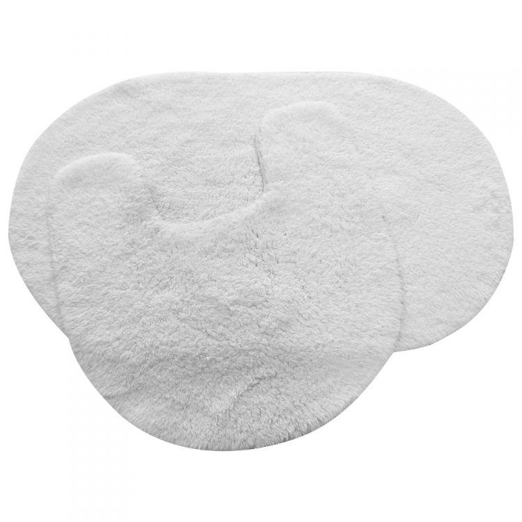 Bath Mat Sets White : Cotton bath set white tonys textiles