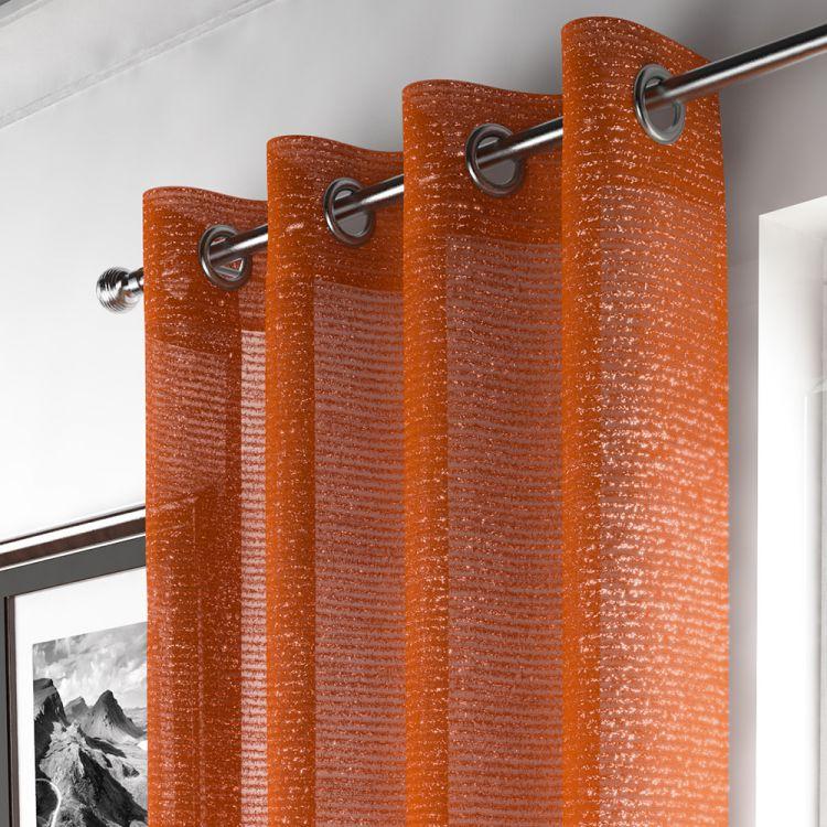 Orange Sparkle Curtain Panel Tony S Textiles