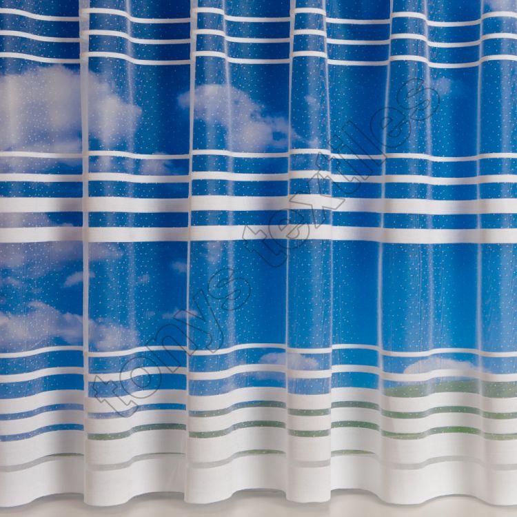 memphis stripe net curtain white tonys textiles. Black Bedroom Furniture Sets. Home Design Ideas