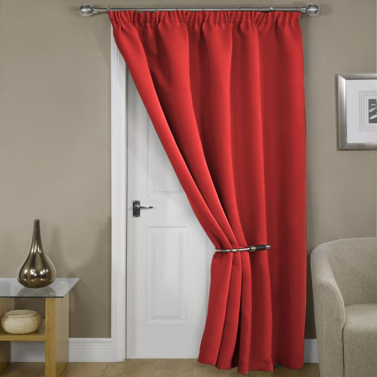 Blackout Thermal Red Door Curtain Tony 39 S Textiles
