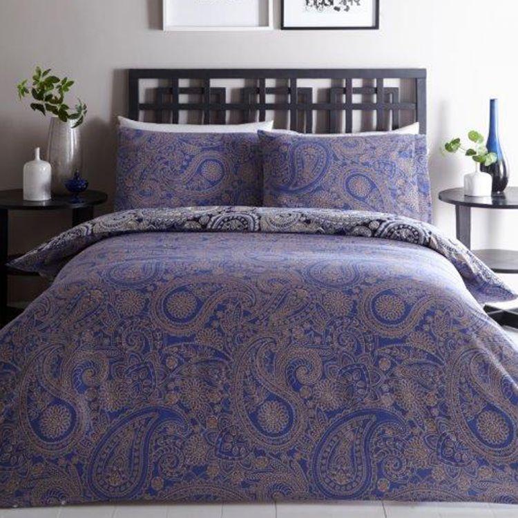 Topaz Jacquard Navy Duvet Cover Tonys Textiles