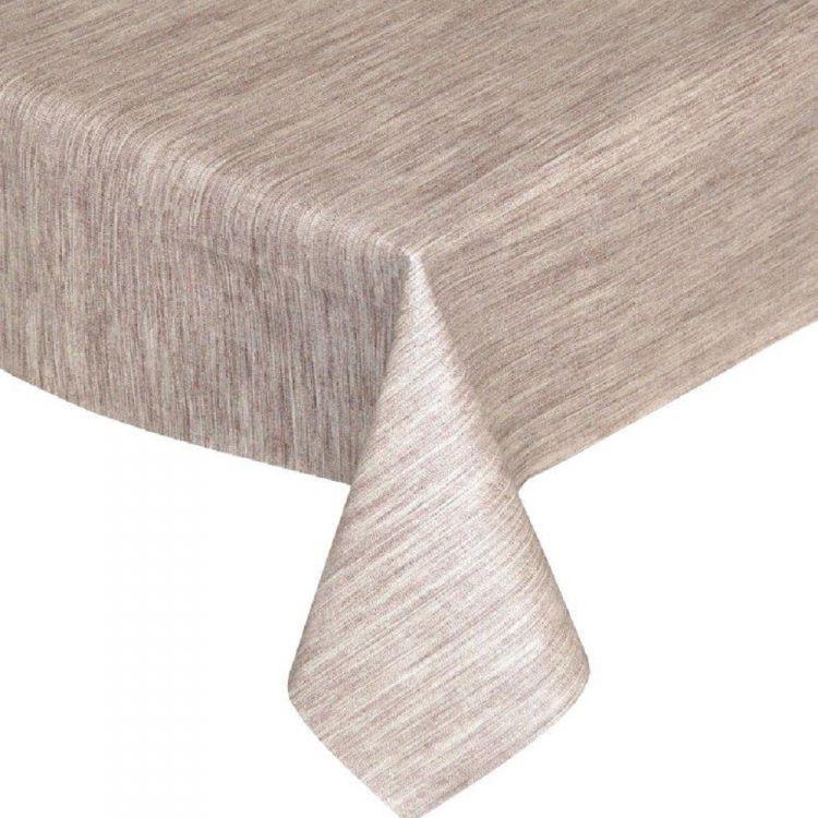 Textured Brown Plastic Vinyl Tablecloth Tonys