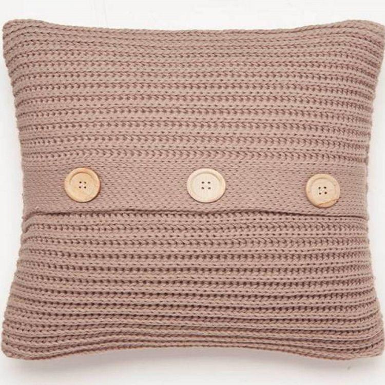 Chunky Knit Natural Cushion Cover Tonys Textiles