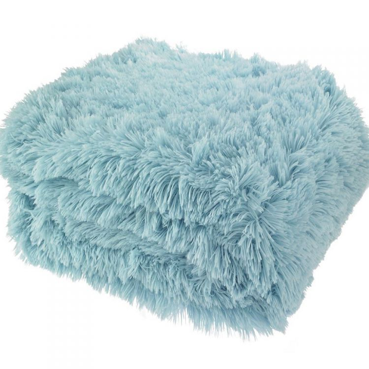 Cuddly Fluffy Duck Egg Throw Tonys Textiles