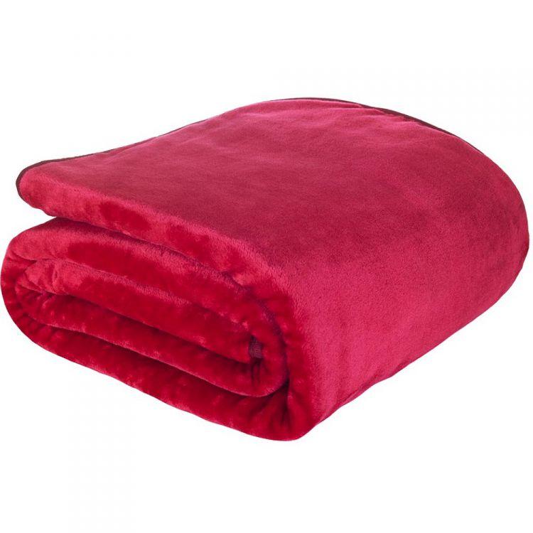 Plain Raschel Red Throw Tonys Textiles