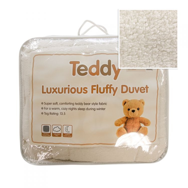 Teddy Luxurious Fluffy Duvet 13 5 Tog Tonys Textiles
