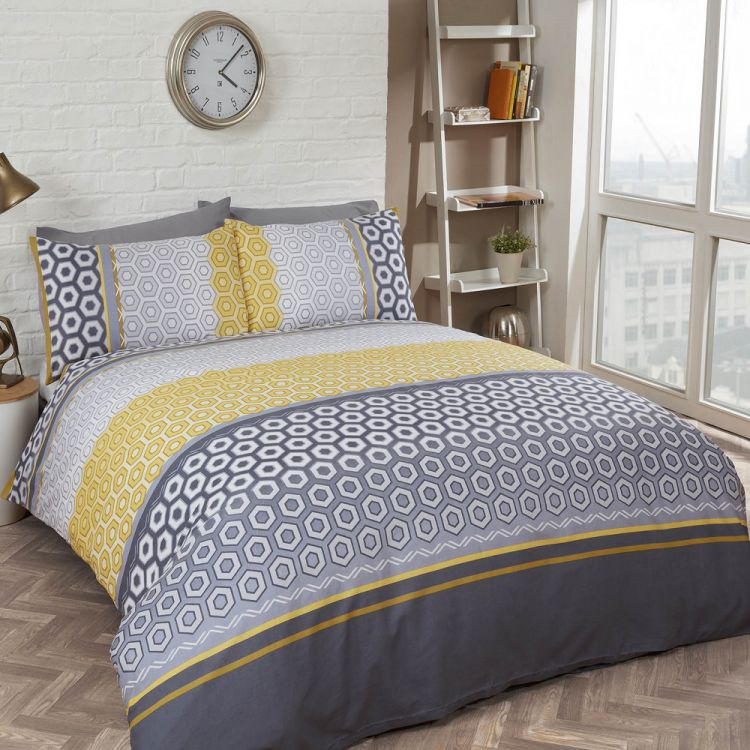 Barbican Yellow Duvet Cover Set Tonys Textiles