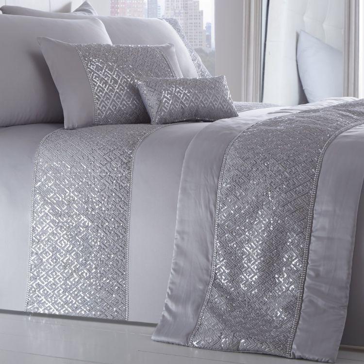 Silver Sequin Runner Tonys Textiles