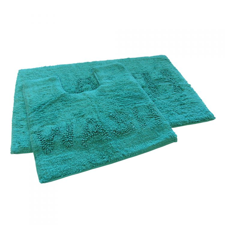 100 cotton bath set teal glitter sparkle tonys for Teal bath sets