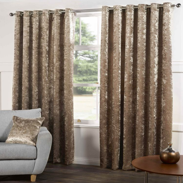 Champagne Crushed Velvet Curtains Tony S Textiles