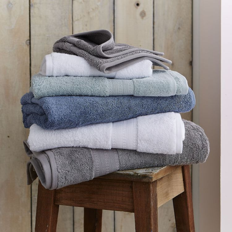 Bianca Cotton Soft Towels 100 Cotton Grey Tonys
