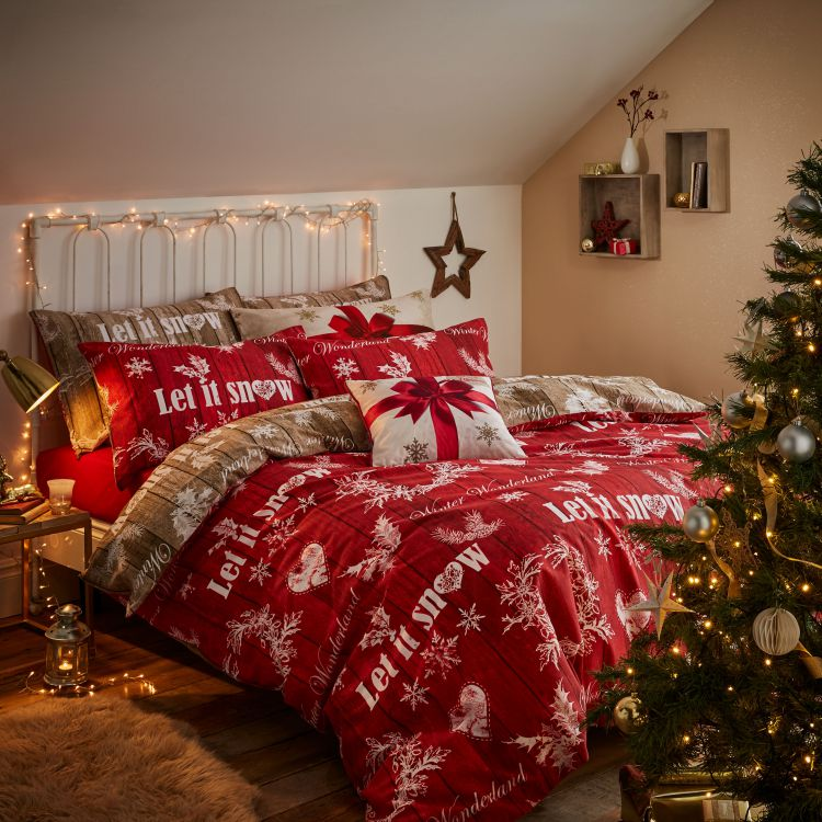 Christmas Greetings Quilt Duvet Set Tonys Textiles