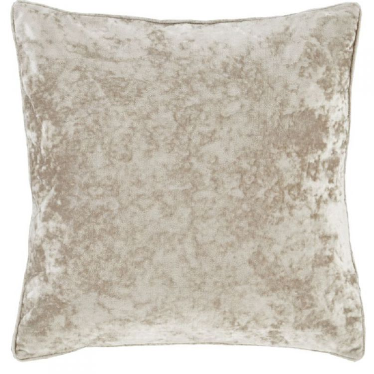 Crushed Velvet Cushion Cover Natural Cream Tonys