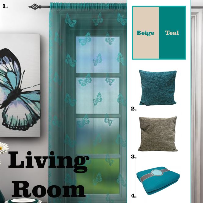 Teal Butterfly Light-Up Cushion