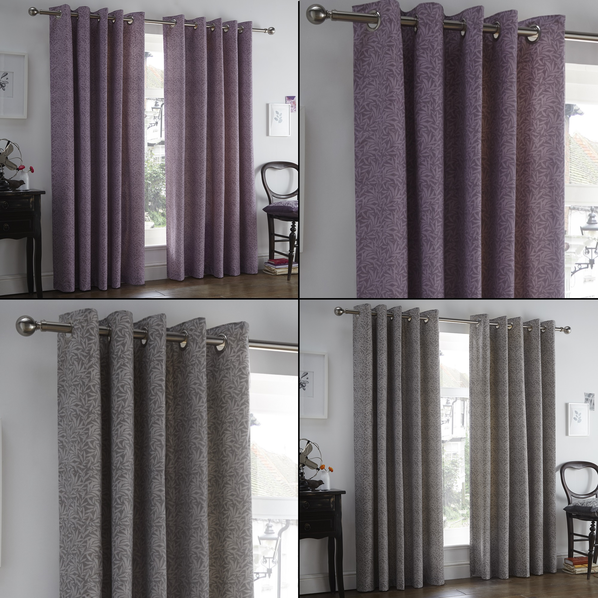 Sentinel Hanworth Floral Eyelet Curtains With Thermal Lining