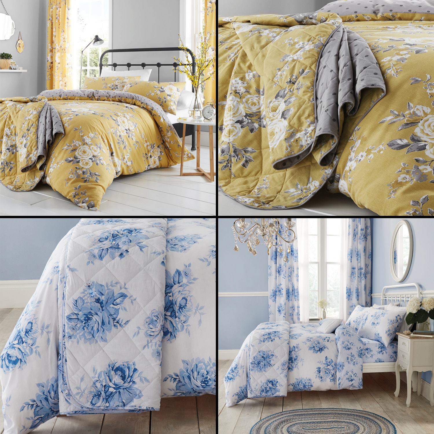 Catherine Lansfield Canterbury Floral Bedding Duvet Set