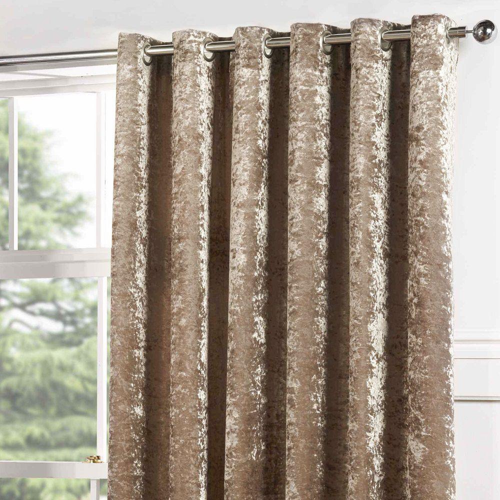 Kensington Crushed Velvet Single Window Curtain Drape Grommet Panel ...