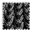 Scandi Spring Leaves Noir Black Made To Measure Curtains