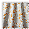 Scandi Spring Leaves  Tangerine Orange Made To Measure Curtains