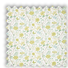 Amazon Celadon Yellow Floral Roman Blind