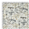 Hedgerow Floral Charcoal Grey Roman Blind