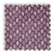 Kato Amethyst Purple Modern Leaves Roman Blind
