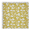 Nordic Flowers Ochre Yellow Roman Blind