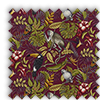 Rainforest Cranberry Red Exotic Animals Roman Blinds - Cranberry Red