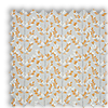 Scandi Spring Tangerine Orange Leaves Roman Blind