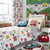 Catherine Lansfield Transport Colourful Reversible Kids Duvet Cover Set