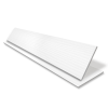 Embossed Faux Wood Venetian Blind With Tape  - Arctic White & Black