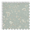 Etched Eau-de-nil Blue Delicate Floral Made To Measure Curtains