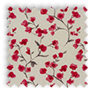Como Blossom Cherry Red Floral Made To Measure Curtains