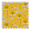 Bergen Ochre Yellow Modern Floral Made To Measure Curtains