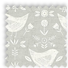 Narvik Scandinavian Birds Burnt Grey Made To Measure Curtains