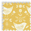 Narvik Scandinavian Birds Ochre Yellow Made To Measure Curtains
