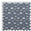 Baa Baa Sheep Denim Blue Made To Measure Curtains