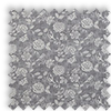 Bird Garden Charcoal Grey Delicate Floral Made To Measure Curtains