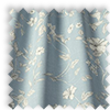 Etched Wedgewood Blue Delicate Floral Made To Measure Curtains
